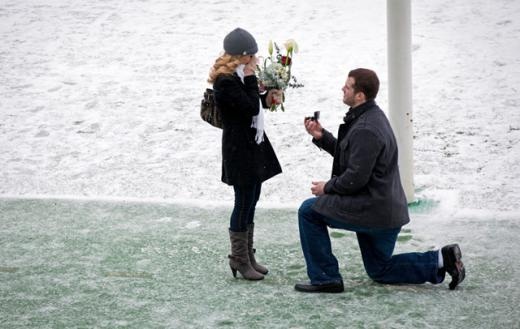 Stupar Surprises Girlfriend, Proposes in Beaver Stadium Just in Time for Valentine's Day