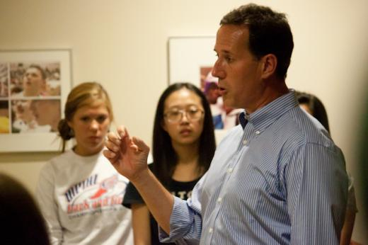 Adam Smeltz: Blasting Penn State, Santorum Brings an Early Spotlight to Primary Season