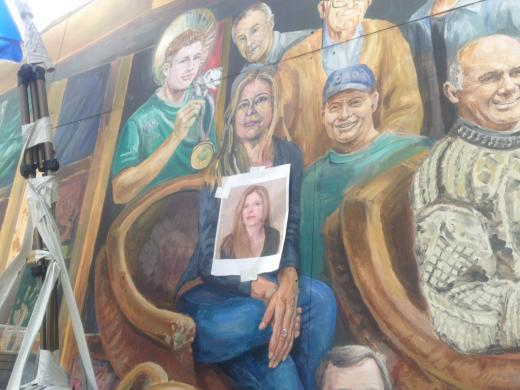 Dora McQuaid Replaces Sandusky on Heister Mural