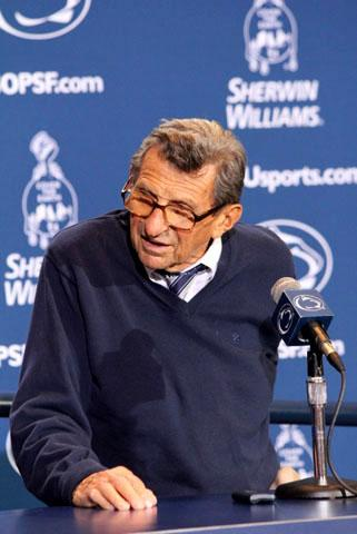 Chronicle of Higher Education: Paterno Sent Emails Regarding Disciplinary Issues