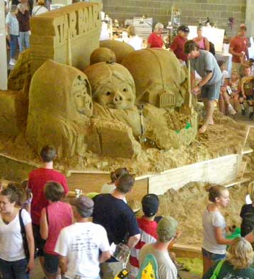 Sand Sculptures a Must See Before Arts Fest Wraps
