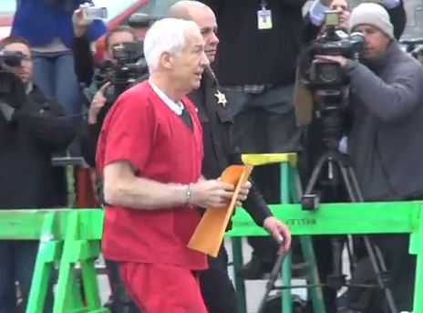 Video: Jerry Sandusky Arrives in Bellefonte for His Sentencing