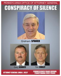 Spanier, Curley and Schultz Charged with Five Counts in 'Conspiracy of Silence'