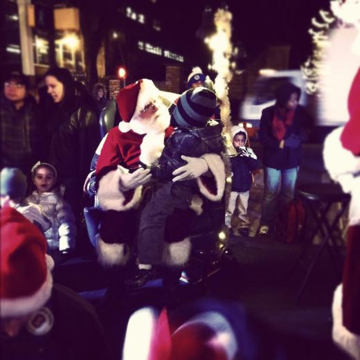 Downtown Tree Lighting Draws Crowd, Santa Claus