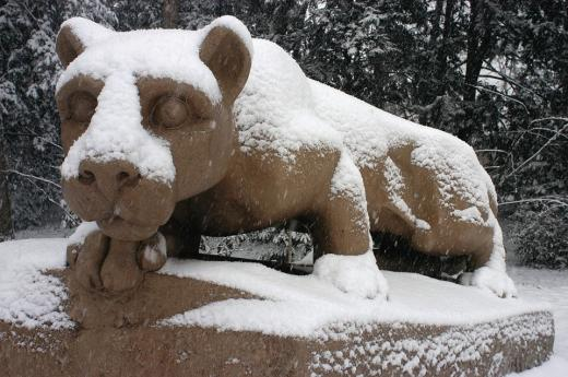 Penn State Under a 2-Hour Delay Following Winter Storm