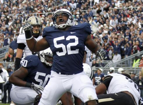 Okoli and Latimore Return to Penn State to Work Out Their NFL Dreams