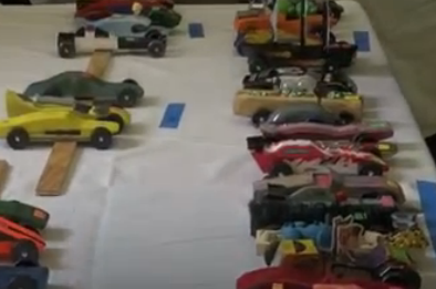 Local Boy Scout Pack Takes Part in Pinewood Derby