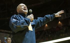 Pat Chambers Addresses Pre-THON Crowd