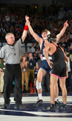 Penn State Wrestling Shuts Out Rider in Final Home Dual of the Season