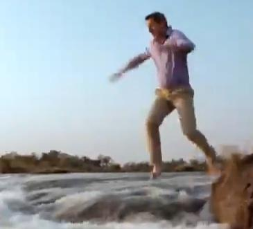 Viral Videos: Daredevil Professor Leaps into Victoria Falls
