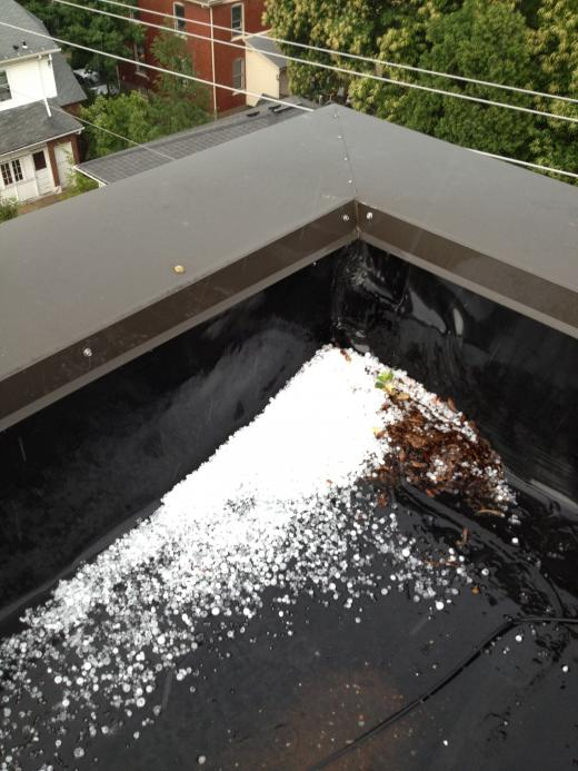 Friday Afternoon Hail Pelts State College