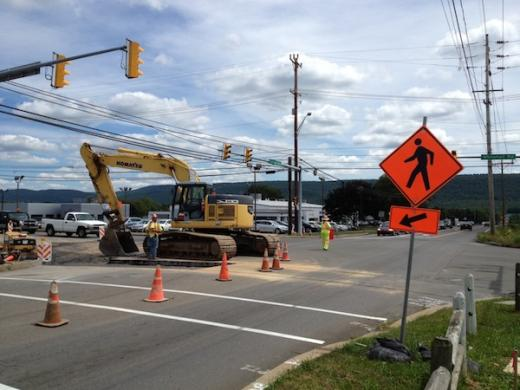 Lanes Shifting as Whitehall Road Construction Project Progresses