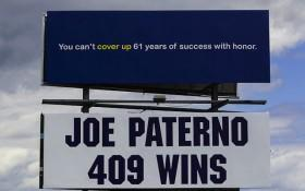 Pro-Joe Paterno Billboard Raising Funds to Avoid Removal
