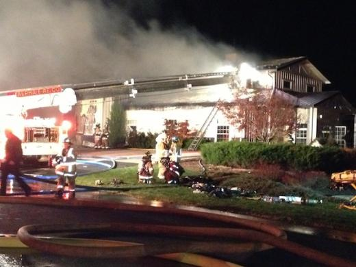 Blaze Rips Through Scott's Landscaping: Route 322 Closed For Hours