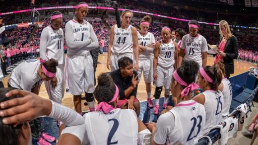 Lady Lions Score Big at Pink Zone Game, Beat Badgers 68-58