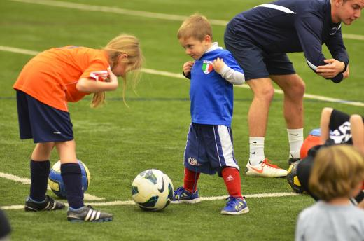 Over 100 children attend soccer clinic honoring Mack Brady