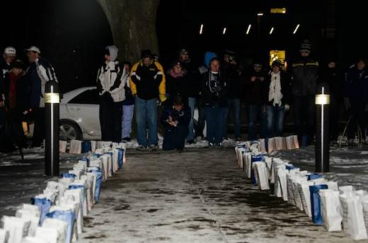 Fans Brave Freezing Cold for Candlelight Tribute to Joe Paterno