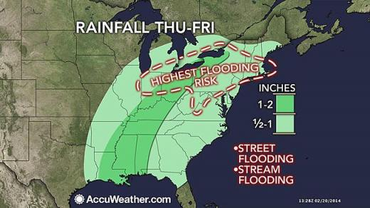 Rain Could Cause Minor Street Flooding Before Mild Weekend