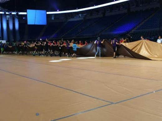 THON Set-Up is Well Underway at Bryce Jordan Center