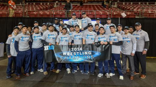 Wrestling Wins Fourth Straight Big Ten Title, Taylor and Ruth Earn Individual Honors