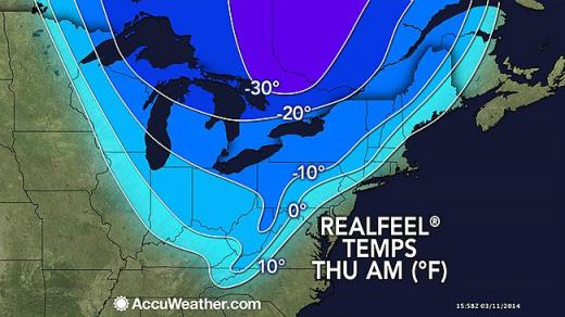Brutal Wind Chills Expected to Return, Slick Roads Possible Thursday