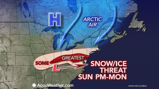 AccuWeather Predicts Cold and Snow Showers for State College Area