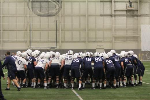 Penn State Spring Practice Notebook: Position Changes, Weight Gains, And Practice No. 1