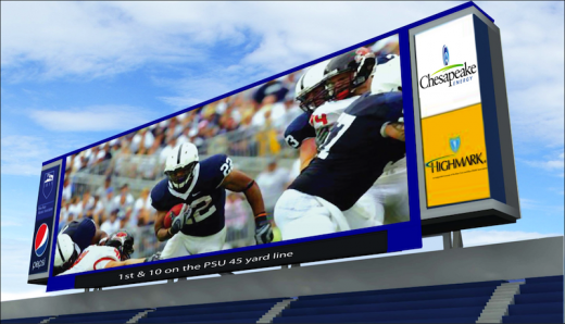 Penn State Football: Scoreboard Project On Track As Season Draws Closer