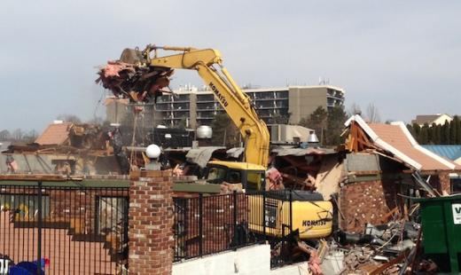 Going Going ... Gone, Demolition Crews Go to Work on McDonald's Restaurant