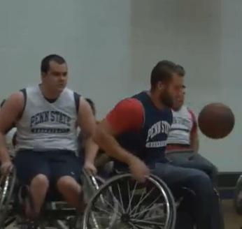 Wheelchair Basketball Attracts Spirited Competitors