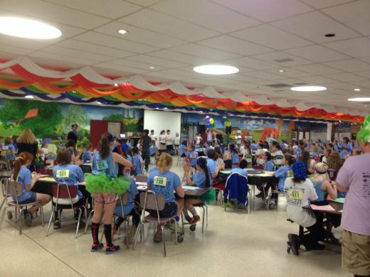 Middle Schools Hold Mini-THON to Support Four Diamonds Fund