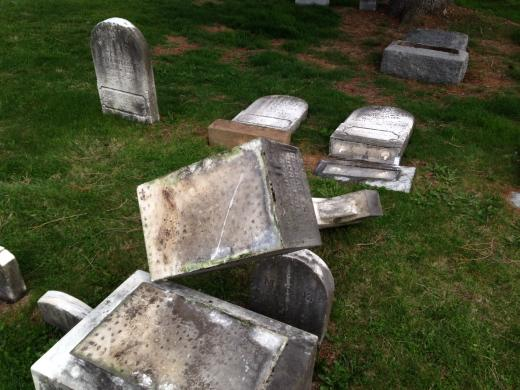 Vandals Damage Dozens of Headstones at Historic Cemetery in Boalsburg, Reward Offered