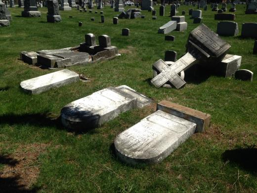Work Crews Repair Damage Caused by Boalsburg Cemetery Vandals