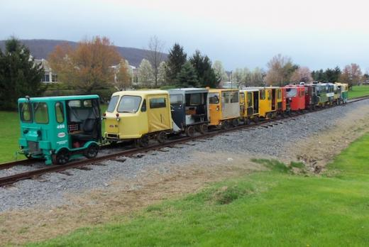 Railroad Track Car Enthusiasts Gather for Centre County Excursion