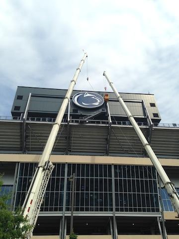 Penn State Football: Beaver Stadium Adds Second Massive Logo To Scoreboard