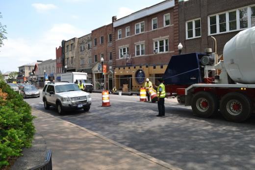 College Avenue Construction on Schedule