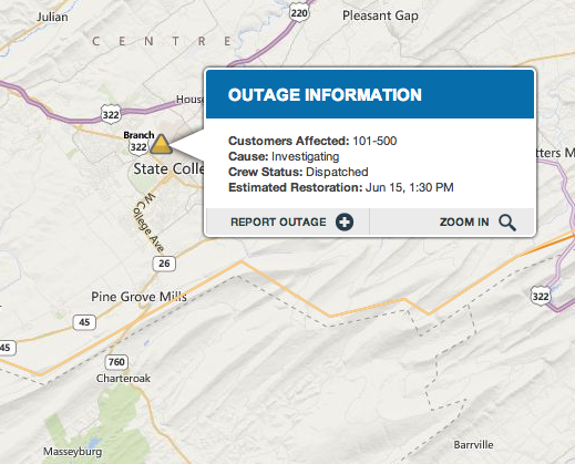 Power Restored After College Heights Outage