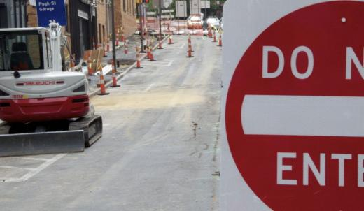 Pugh Street Construction Part of 'Difficult' Process