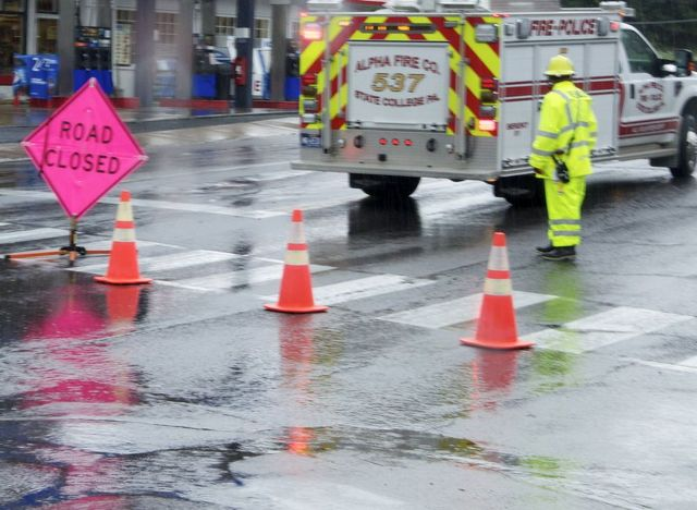 Downpour Brings Flash Floods, Road Closures to State College