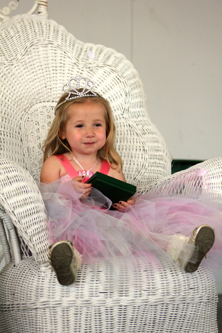 Kids Show Off Cuteness in Grange Fair Toddler Pageant