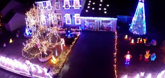 Penn State Christmas Light Show Captured by Drone