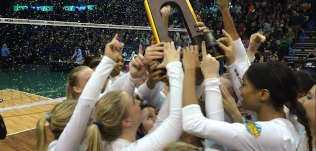 Women's Volleyball Wins NCAA Record Seventh National Title