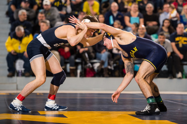 Wrestling Team Gets Back On Track With 19-15 Win Over Michigan