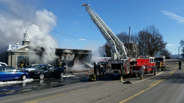 Fire Roars Through South Atherton Street Gas Station, No Injuries Reported