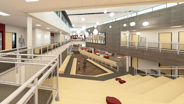 state college pa high school renovation project on track design