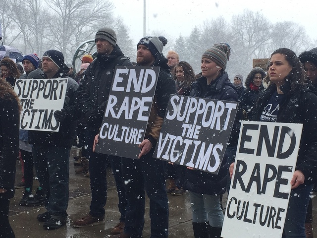 Students Protest at Old Main in Support of KDR Victims