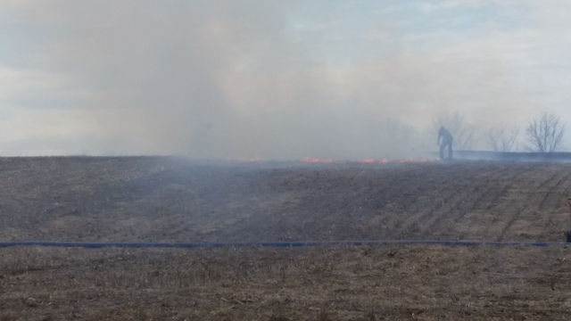 Field Fire Burns Ten Acres Near Pine Grove Mills
