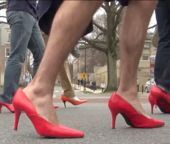 Students 'Walk a Mile in Her Shoes' to Fight Sex Assault