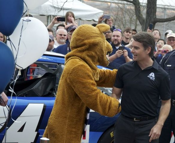 NASCAR Great Jeff Gordon Unveils New Penn State Ride With High-Octane Cruise Through Campus
