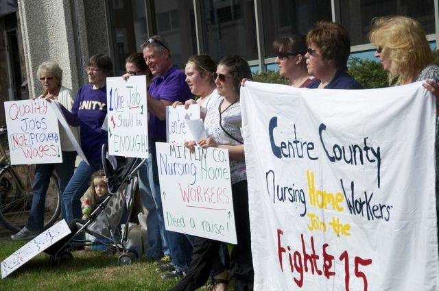 Nursing Home Workers Protest for Higher Wages